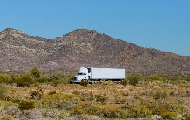 truck is on the way of a long-distance move