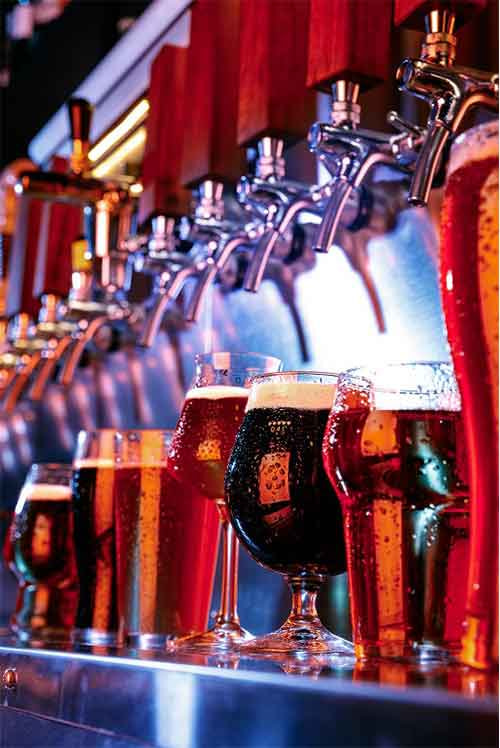 Different kinds of Beer and Drinks