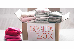 Cloth donation box