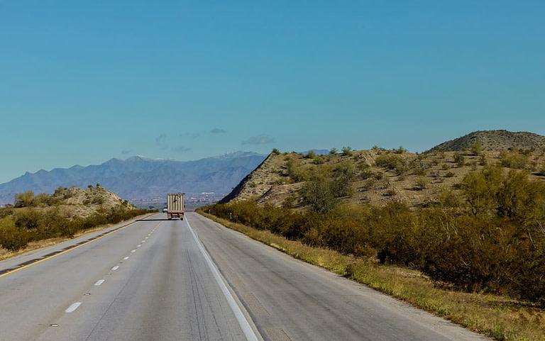 Truck in New York Highway
