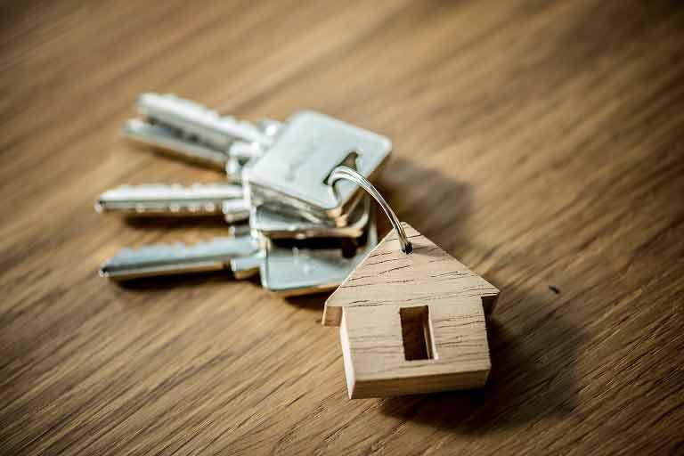 Buyer's new apartment keys